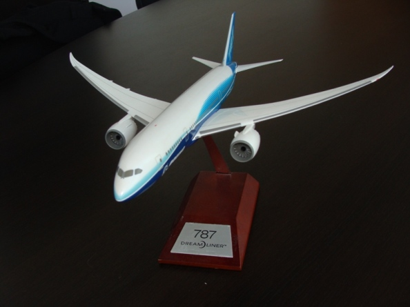 Boeing 787 Dreamliner in Boeing factory livery