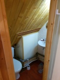 small bathroom upstairs (WC and sink)
